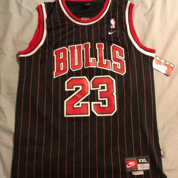huge discount 2c1cf 47bc0 Brand new Jordan #23 Black Red pin striped jersey NWT